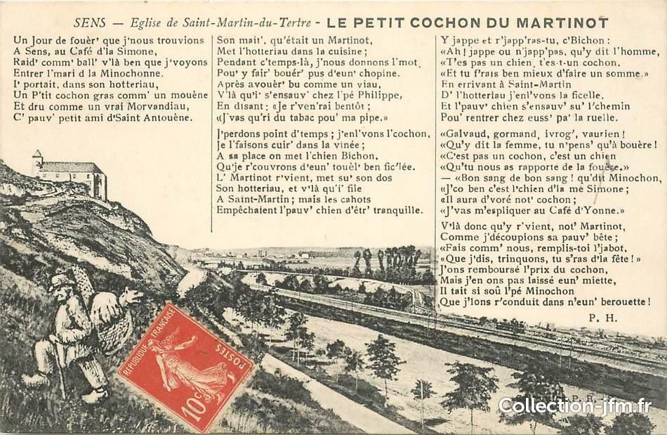 Cpa france 89 sens eglise de saint martin du tertre for Sens 89 yonne