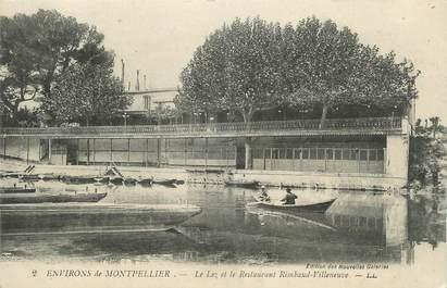""".CPA  FRANCE 34 """"   Environs de Montpellier , Le Lez et le restaurant Rimbaud-Villeneuve"""""""