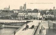 """89 Yonne CPA FRANCE 89 """"Sens, entrée de la ville par le pont d'Yonne"""""""