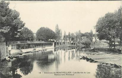 ".CPA  FRANCE 34 ""   Environs de Montpellier , Les bords du Lez, Restaurant Rimbaud"""