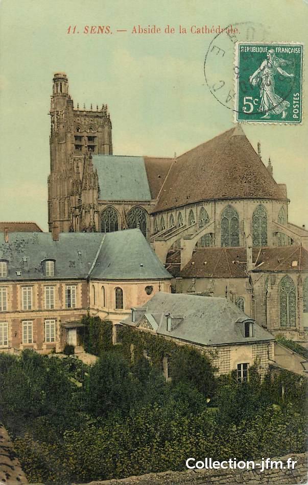 Cpa france 89 sens abside de la cath drale 89 yonne for Sens 89 yonne