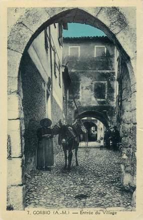 """CPA FRANCE 06 """"Gorbio, l'entrée du village"""""""