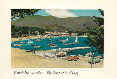 """CPSM FRANCE  83 """"Cavalaire, le port et la plage"""""""