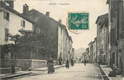 ".CPA FRANCE 34 ""  Riols, Grande rue  """