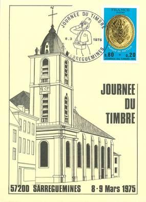 """CPSM FRANCE 57 """"Sarreguemines, la journée du Timbre 1975"""""""