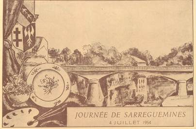 "CPSM FRANCE 57  ""Sarreguemines, 1954"""