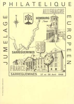 """CPSM  FRANCE 57  """"Sarreguemines, exposition philatélique"""""""