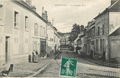"""CPA FRANCE 77  """"Dontilly, la grande rue"""""""