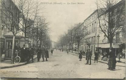 """.CPA  FRANCE 34 """"  Pézenas, Le Cours Molière"""""""
