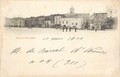 """.CPA  FRANCE 34 """"  Pézenas,  Place du XIV juillet"""""""