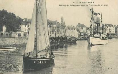 """CPA FRANCE 44 """" Le Pouliguen, départ du Solacroup pour la promenade"""""""
