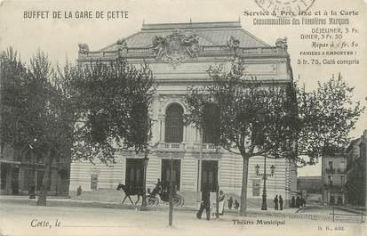 """.CPA  FRANCE 34 """"  Cette, Théâtre municipal"""""""