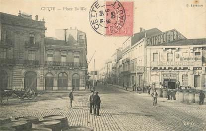 """.CPA  FRANCE 34 """"  Cette,  Place Delille"""""""
