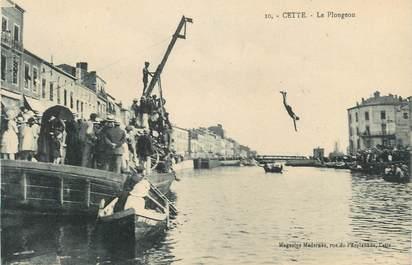 """.CPA  FRANCE 34 """"  Cette,  Le plongeon"""""""