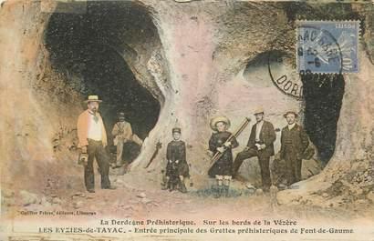 """CPA FRANCE 24 """"Les Eyzies de Tayac, entrée principale des grottes préhistoriques de Font de Gaume"""""""