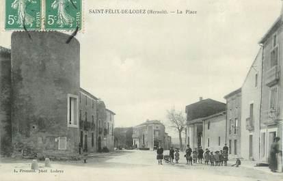""".CPA  FRANCE 34 """"  St Félix de Lodez, La place"""""""