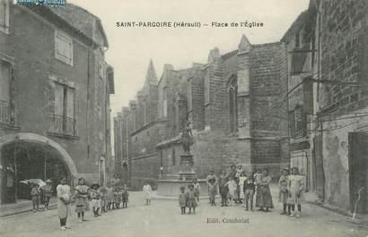 """.CPA  FRANCE 34 """"  St  Pargoire, Place de l'église"""""""