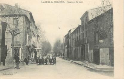 """. CPA FRANCE  34 """" St André de Sangonis, Cours de la gare"""""""