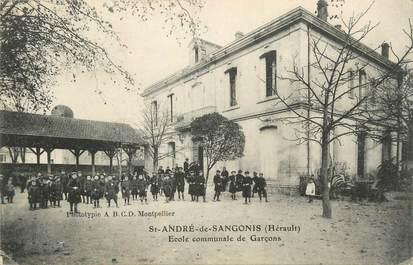 """. CPA FRANCE  34 """" St André de Sangonis, Ecole communale de garçons"""""""