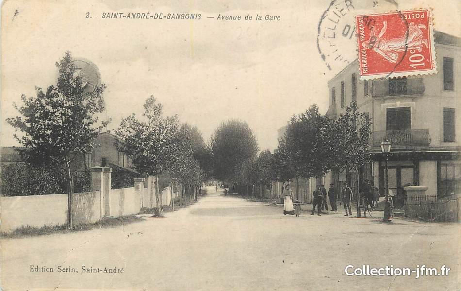cpa france 34 st andr de sangonis avenue de la gare 34 herault autres communes 34. Black Bedroom Furniture Sets. Home Design Ideas