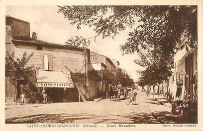 """. CPA FRANCE  34 """" St André  de Sangonis, Cours Ravinière"""""""