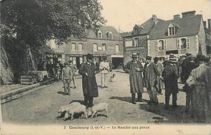 """. CPA FRANCE  35 """"Combourg, Le marché au porcs"""""""