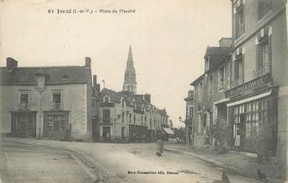 """. CPA FRANCE  35  """" Janzé, Place du Marché"""""""