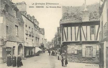 """. CPA FRANCE  35  """"Redon, La grande rue"""""""