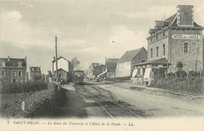 """. CPA FRANCE  35  """"St  Briac, La gare du tramway et Hôtel de la Houle"""""""