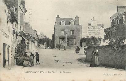 """. CPA FRANCE  35  """"St Enogat, La place et le calvaire"""""""