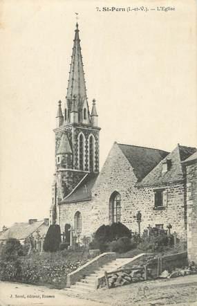 ". CPA FRANCE  35 ""St Pern, L'église"""