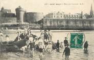"""35 Ille Et Vilaine . CPA FRANCE  35 """"St  Malo, Mare aux canetons"""""""