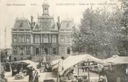 """35 Ille Et Vilaine . CPA FRANCE  35 """"St  Servan,  Hôtel de ville, Place du marché"""""""