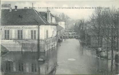 """CPA FRANCE 75012 """"Paris, les entrepôts de vins et spiritueux de Bercy inondés en 1910"""""""
