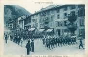 """73 Savoie . CPA FRANCE  73 """"Modane, Place de la gare, défilé des châsseurs alpins"""""""