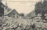 """73 Savoie . CPA FRANCE  73 """"Modane  - Fourneaux, Catastrophe du 23 juillet 1906 Place de l'église"""""""