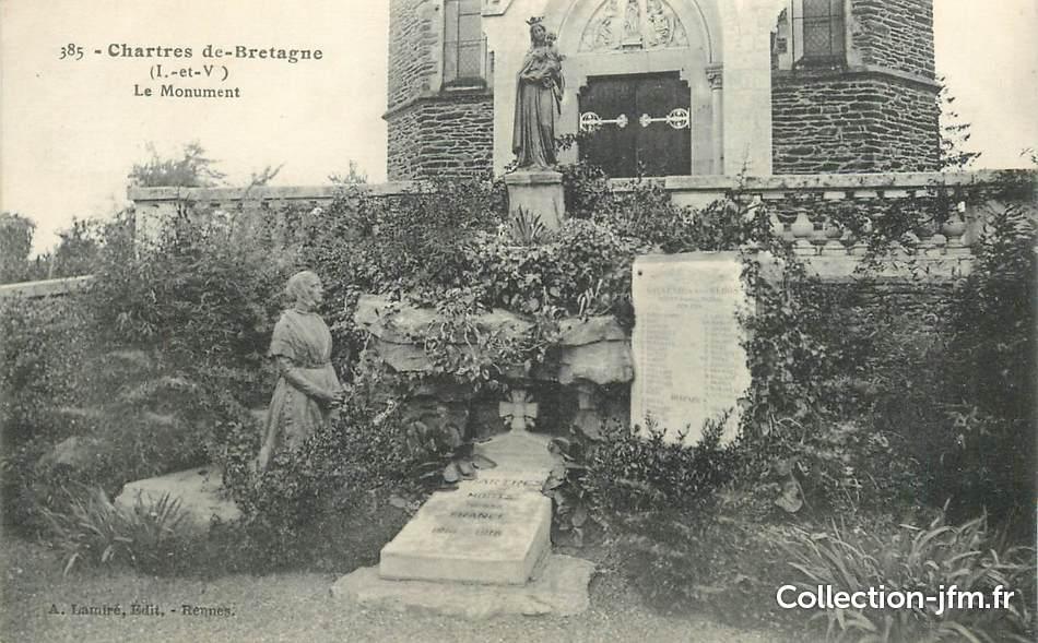 Cpa france 35 chartres de bretagne le monument aux morts for Chartres de bretagne piscine