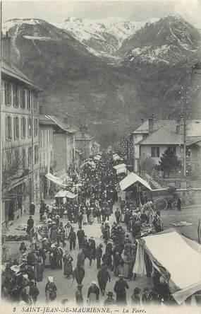 """. CPA FRANCE  73 """" St Jean de Maurienne, La foire"""""""