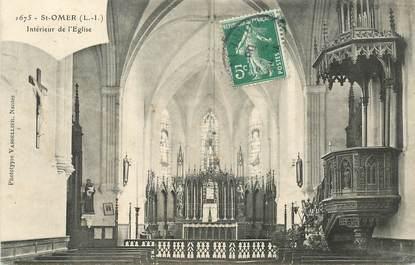 """CPA FRANCE 44 """"Saint Omer, intérieur de l'Eglise"""""""