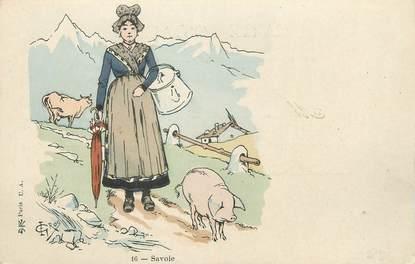 """. CPA  FRANCE  73 """"Costumes de la Savoie""""/ FOLKLORE"""