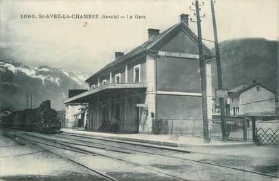 """. CPA   FRANCE  73 """"St Avre la Chambre, La gare"""" /GARE"""