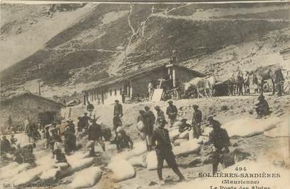 """. CPA   FRANCE  73 """"Sollières Sardières, Le poste des alpins"""""""