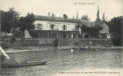 """. CPA   FRANCE  73 """"Le Viviers, Restaurant des Rives du Lac"""""""
