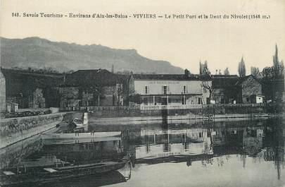 """. CPA   FRANCE  73 """"Le Viviers, Le petit port et  la dent du Nivolet"""""""
