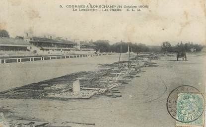 "CPA FRANCE 75016 ""Paris, courses à Longchamp, 1906"""