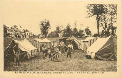 "CPA FRANCE 03 ""La Famille Roy en camping, Charmeil près Vichy"""