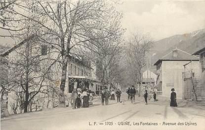 """. CPA   FRANCE  73 """"Ugine, Les fontaines, avenue des usines"""""""