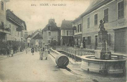 ". CPA   FRANCE  73 ""Yenne, Place centrale"""