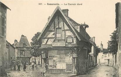 """CPA FRANCE 41 """"Romorantin, le Carroir doré"""""""