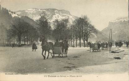 ". CPA   FRANCE  74 "" Thones , Place Avet"""